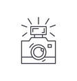 photography line icon concept photography vector image vector image
