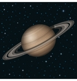 Planet Saturn in space vector image vector image