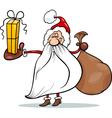 santa claus with gift cartoon vector image vector image