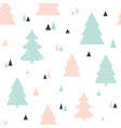 scandinavian christmas pattern childish vector image vector image