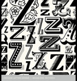 seamless vintage pattern letter Z vector image vector image