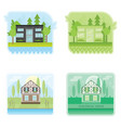 set of banners with modern ecological houses vector image vector image