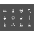 set science and research icons vector image vector image