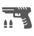 shooter game glyph icon game and play gun sign vector image vector image