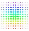 smiled sticker shape halftone spectral effect vector image vector image
