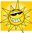 Smiling sun with sunglasses vector | Price: 1 Credit (USD $1)