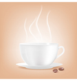 Smoking coffee cup vector image