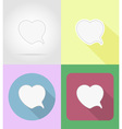 speech bubbles flat icons 13 vector image vector image