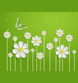 spring background with volumetric vector image