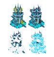 stage destruction fantasy castle isolated vector image vector image