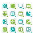 stylized phone performance internet and office vector image vector image