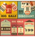 tag price flat retro vector image