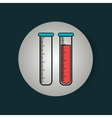test tube laboratory isolated icon vector image vector image