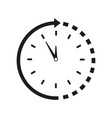 time around clock icon vector image vector image