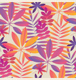 vibrant pink and yellow tropical seamless pattern vector image vector image