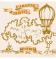 vintage travel background vector image vector image