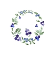 Watercolor floral ornament in a circle vector image vector image