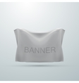 white textile banner mock-up vector image