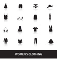 womens clothing icons eps10 vector image vector image