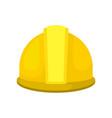 yellow plastic helmet for construction worker vector image