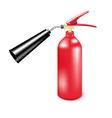 Red metal fire extinguisher vector image