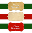 Set Vintage Christmas Labels vector image