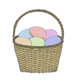 Hand-drawn basket vector image