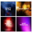abstract dark blurred background set vector image vector image