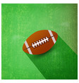 american football ball isolated on green textured vector image