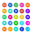 arrows button circle elements with arrow icons vector image vector image