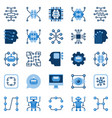artificial intelligence flat icons set ai vector image vector image