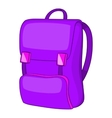 Backpack icon cartoon style vector image vector image