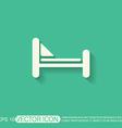 Bed symbol sign symbol or hotel stay