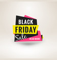black friday sale sticker discount banner special vector image