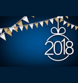 blue 2018 new year background vector image vector image