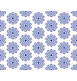 blue circular flowers with a beautiful patterned vector image vector image