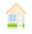 Brick house vector | Price: 3 Credits (USD $3)