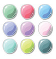 candy colored buttons with glass surface effect vector image vector image