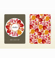 card with floral pattern hand drawn flowers vector image