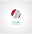 circle shape logo vector image vector image