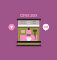 coffee machine kitchen appliance vector image