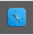 Compass icon - flat app button vector image vector image