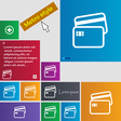 Credit card icon sign buttons Modern interface vector image
