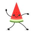 cute cartoon dancing watermelon icon isolated vector image