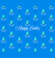 easter eggs seamless pattern on blue background vector image vector image