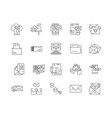 envelope line icons signs set outline vector image vector image