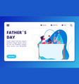 fathers day landing web page template vector image