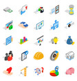 finance banking icons set isometric style vector image vector image