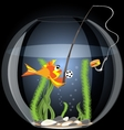 fish and food vector image