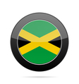 Flag of Jamaica Shiny black round button vector image